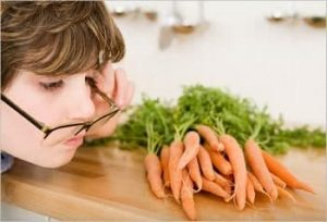 To strengthen your eyesight, you need to eat carrots and blueberries.