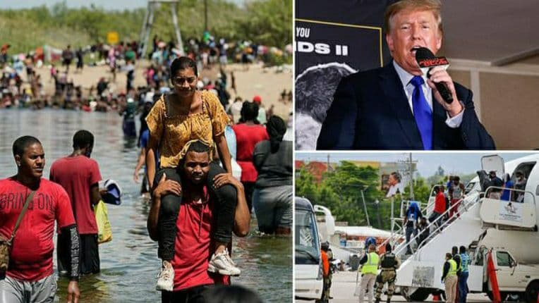 Donald Trump: The United States is becoming a dump for humanity